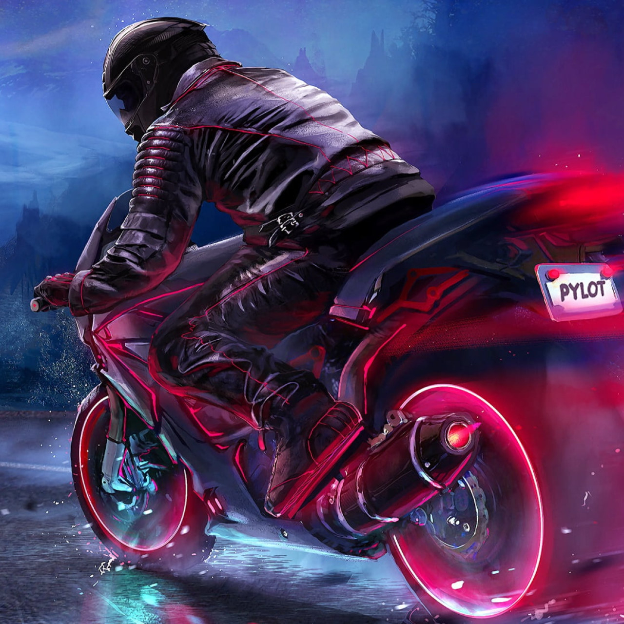 motorcycle wallpaper x1280