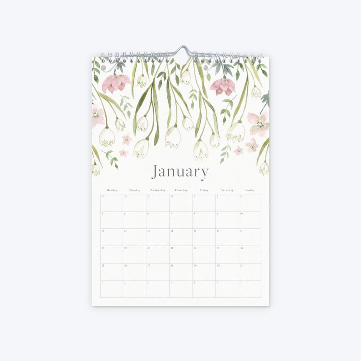 s product image 77 2021 floral calendar january