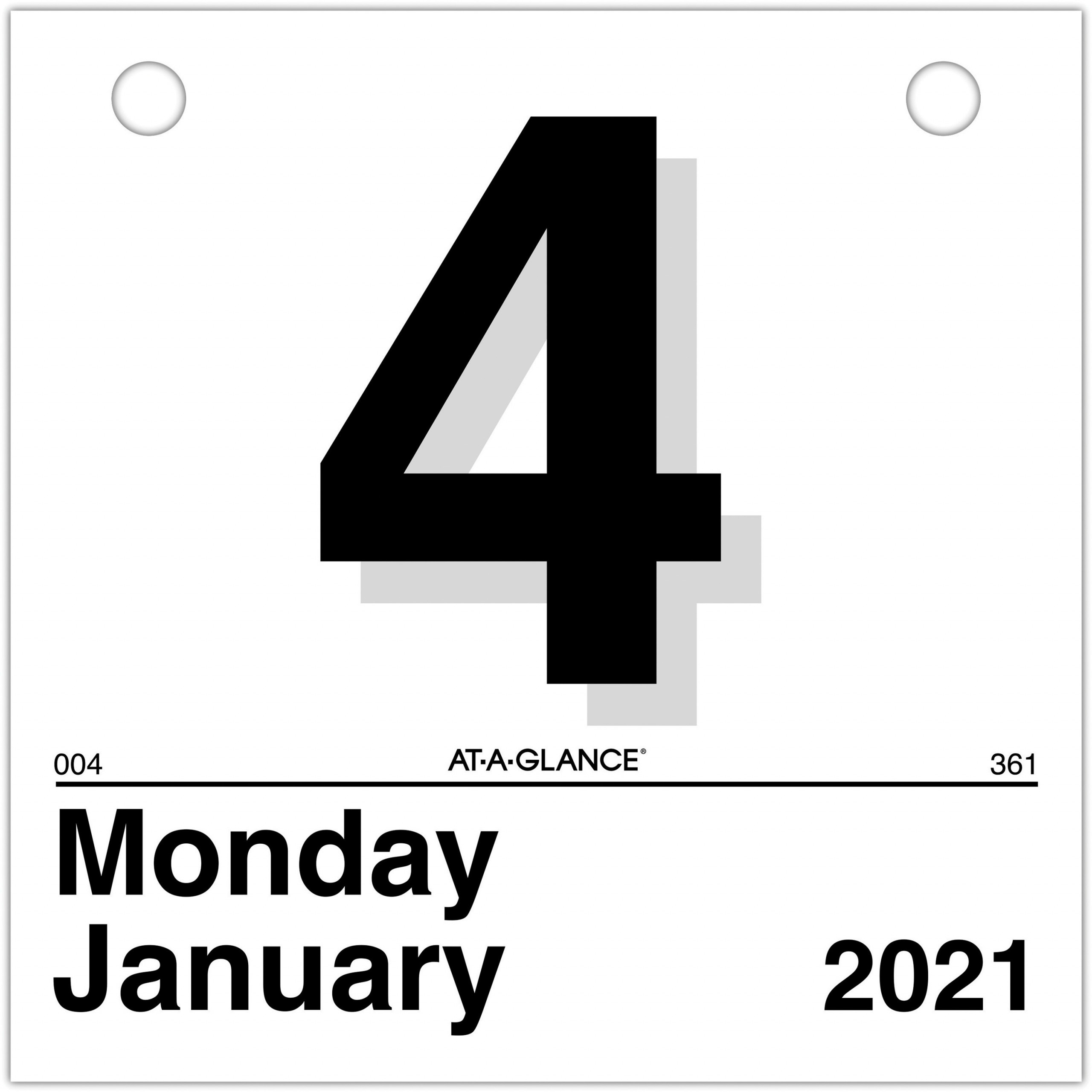At A Glance Today Is Daily Wall Calendar Refill Julian Dates Daily 1 Year January 2021 till December 2021 1 Day Single Page Layout 6 x AAGK150x