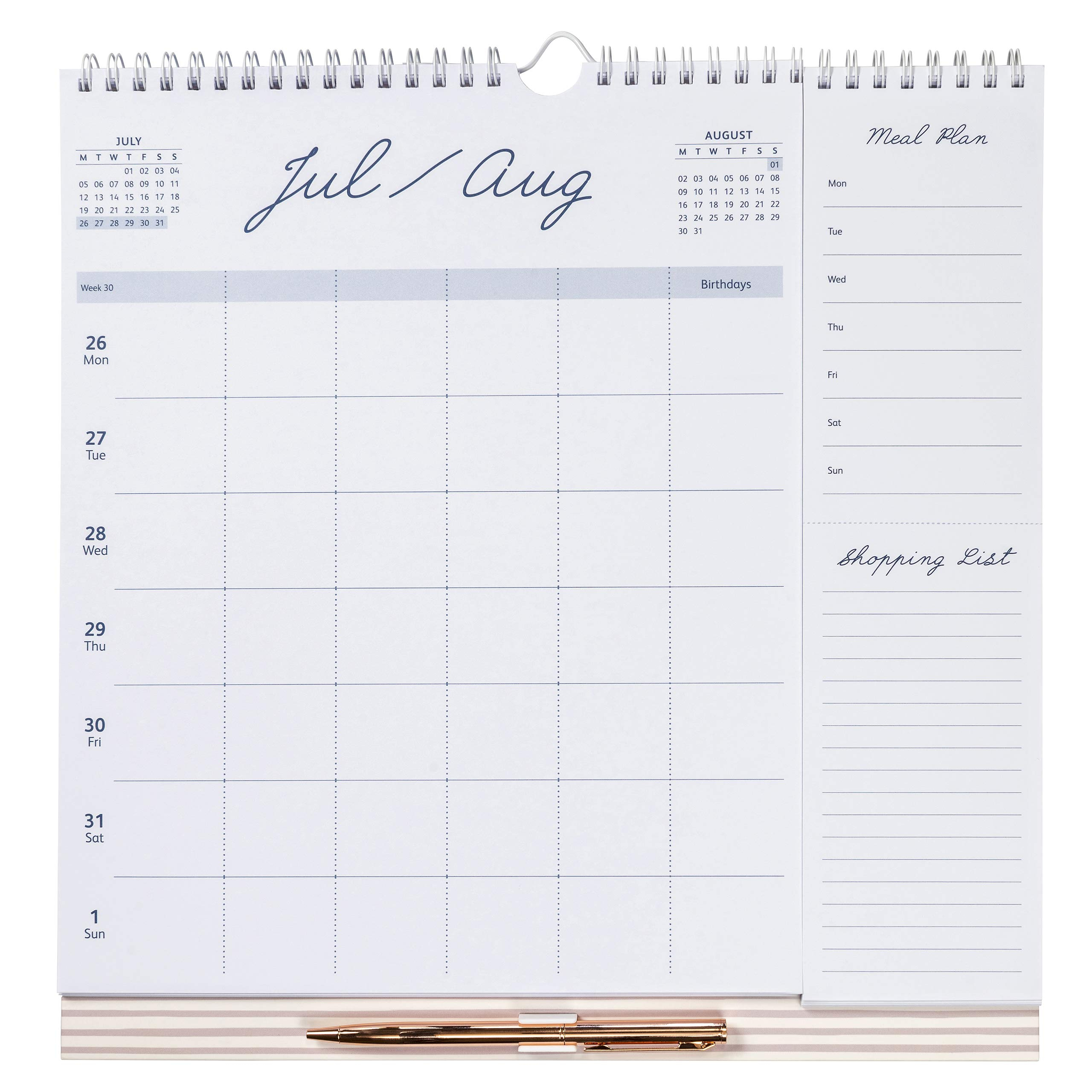 busy b weekly family calendar january to december 2021 navy spot week to view calendar with 6 columns for family