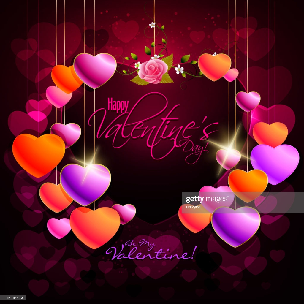 elegant valentine background with colorful hearts vector id