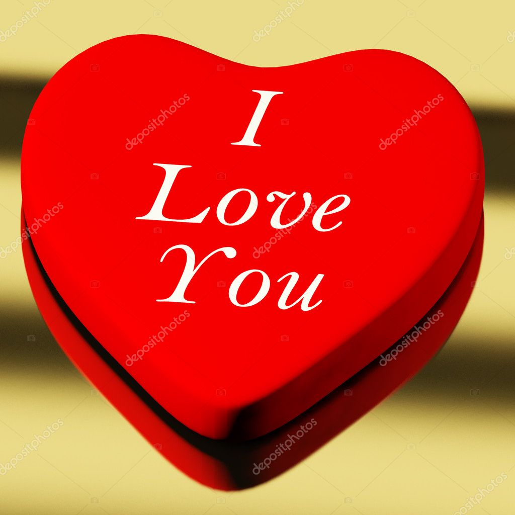 depositphotos stock photo red heart with i love