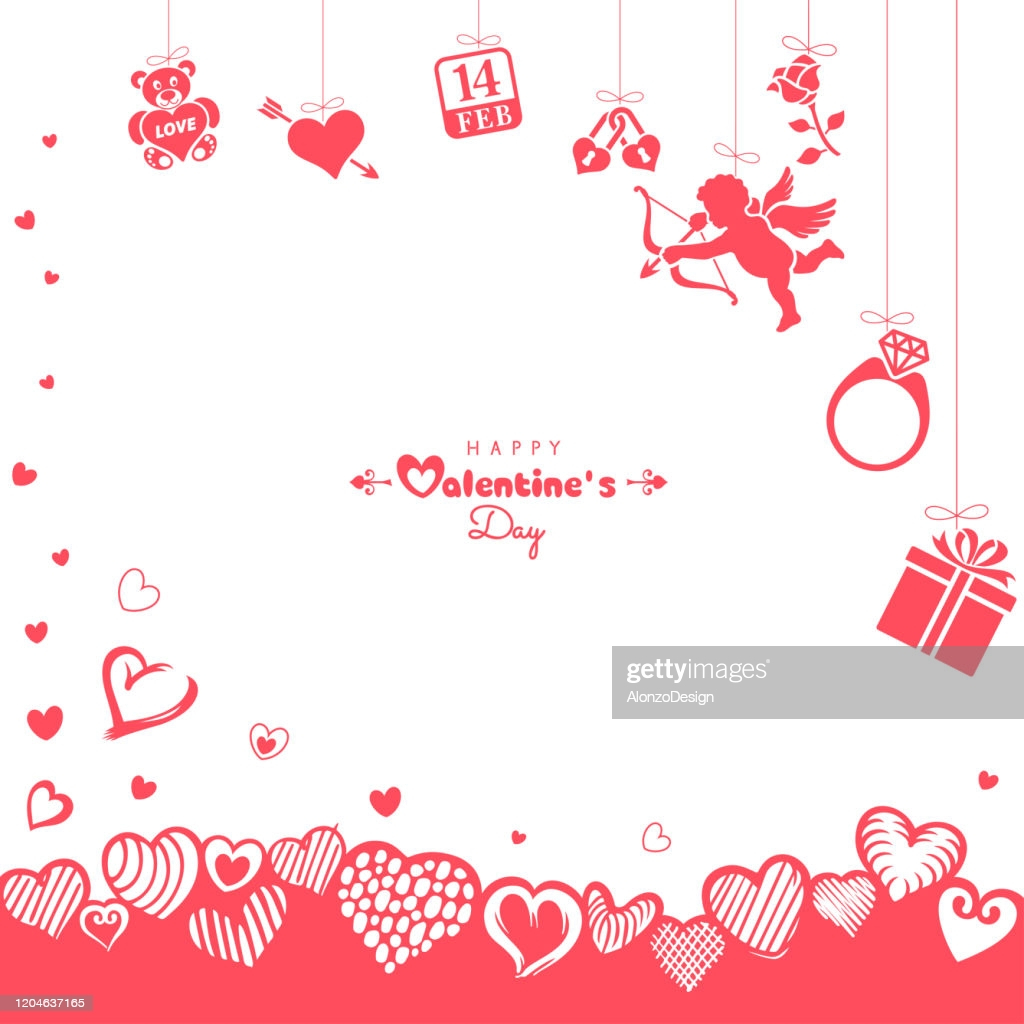 happy valentines day background vector id