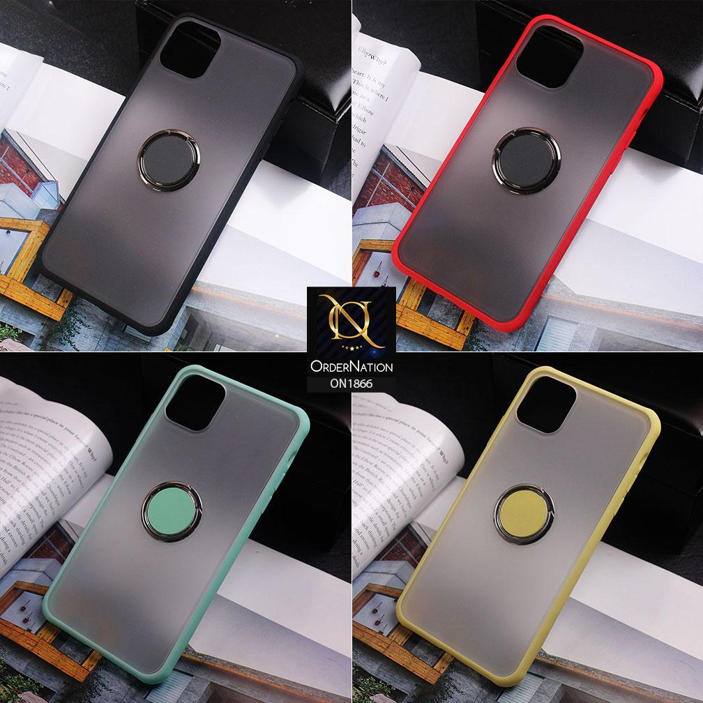 soft borders semi transparent finger ring holder case for iphone 11 pro max sea green on1866 ip11pm seagreen