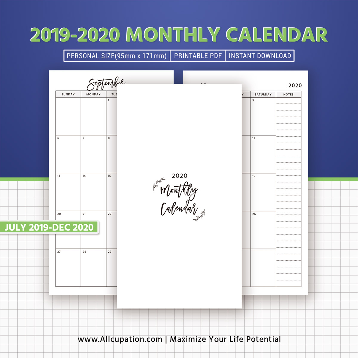 monthly calendar dated calendar monthly planner month on 2 pages printable personal size planner inserts best planner filofax personal