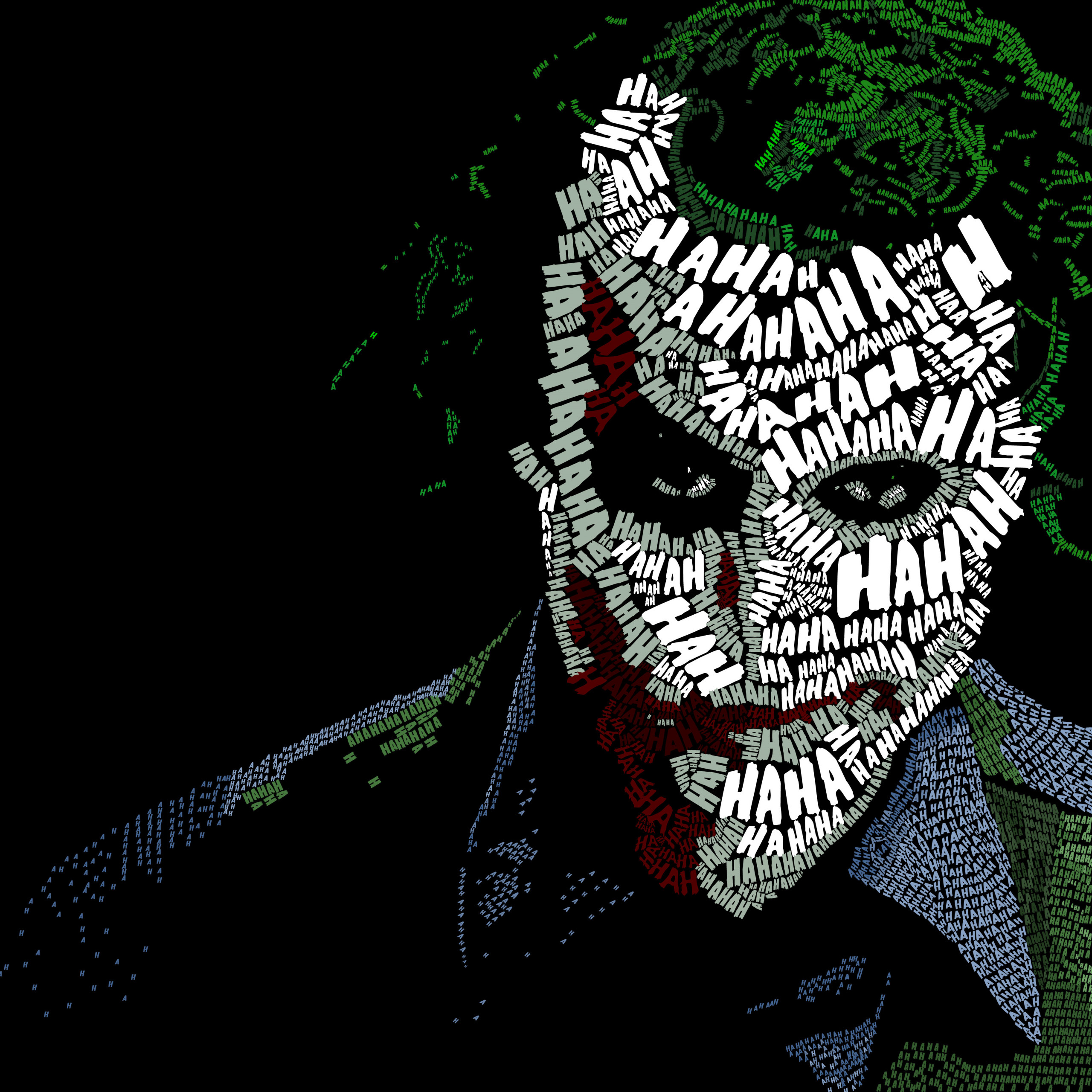 joker face text artwork rl