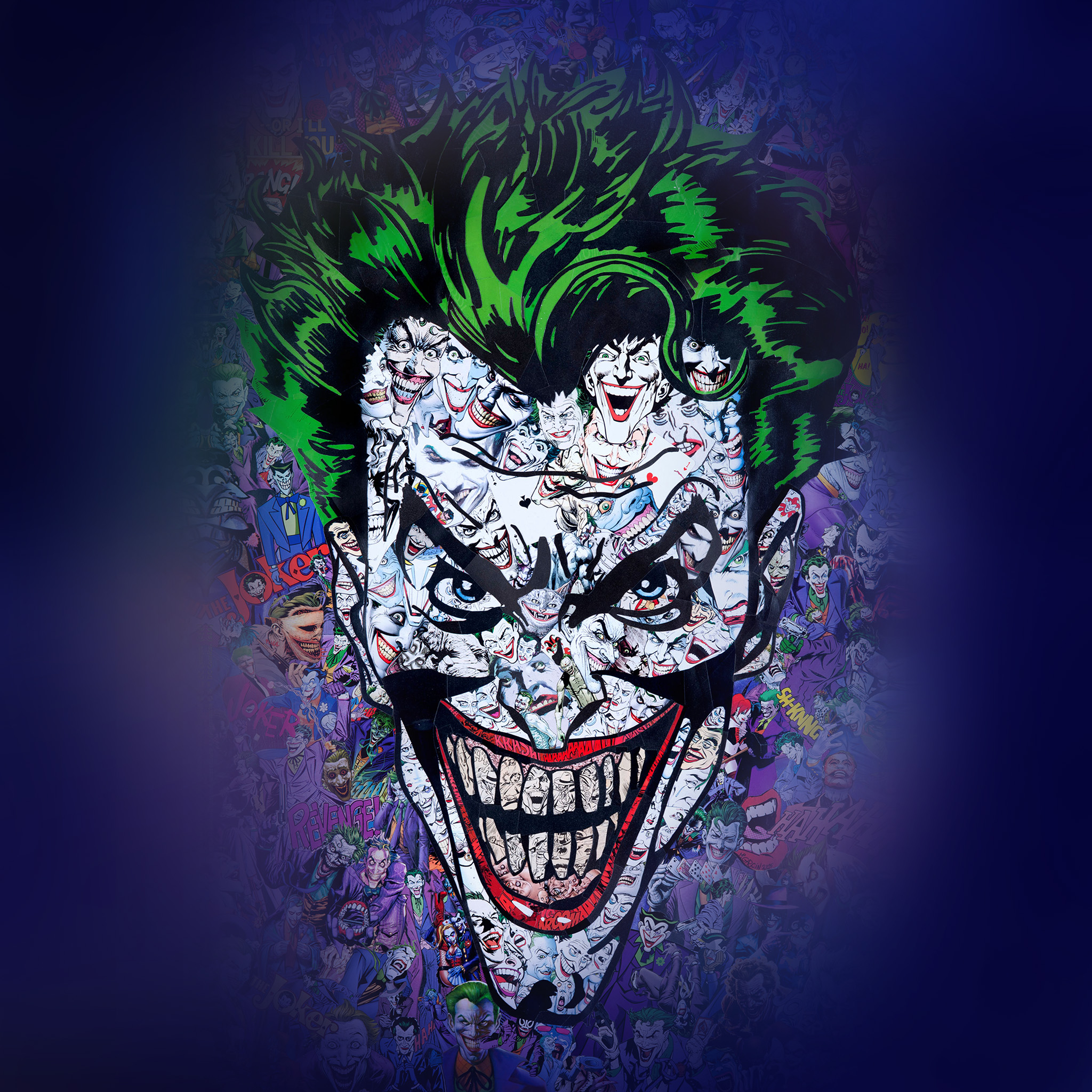au55 joker art face illustration art