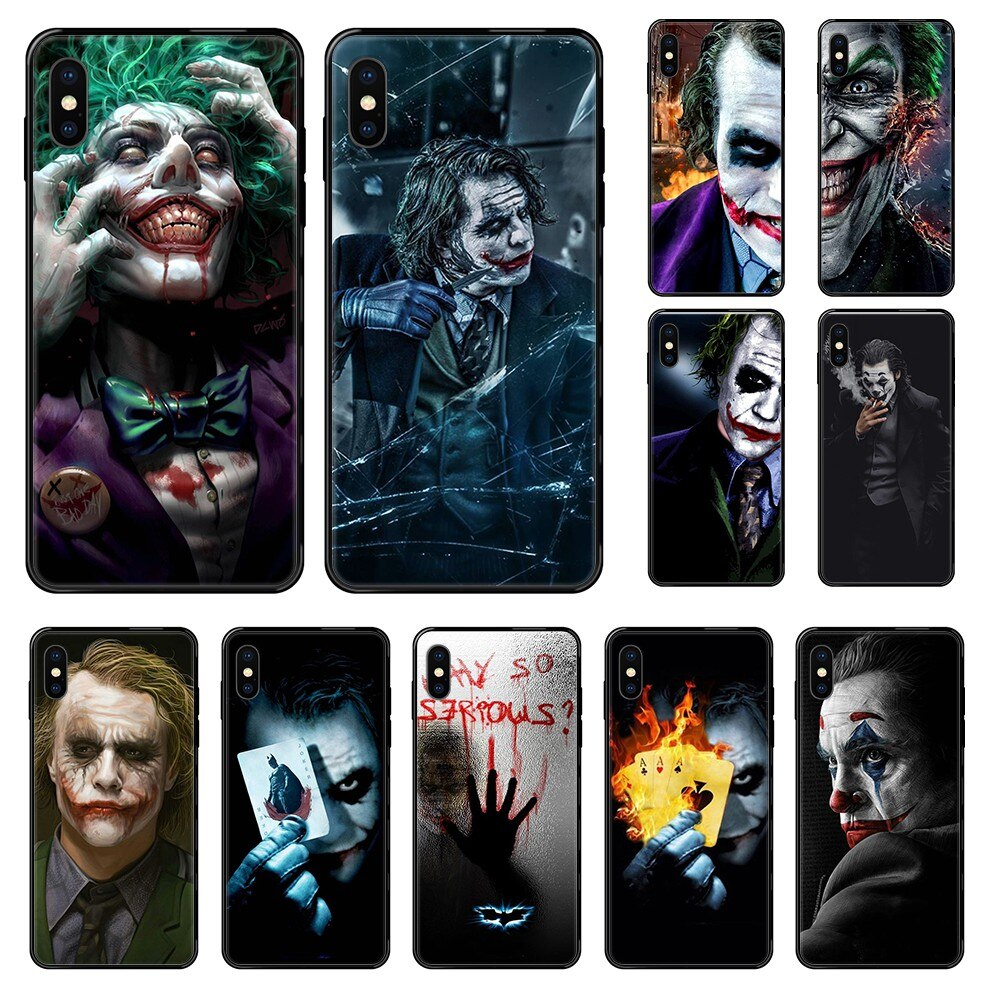 2019 The Joker tpu luxury prime coque black Phone case For iphone 4 4s 5 5S