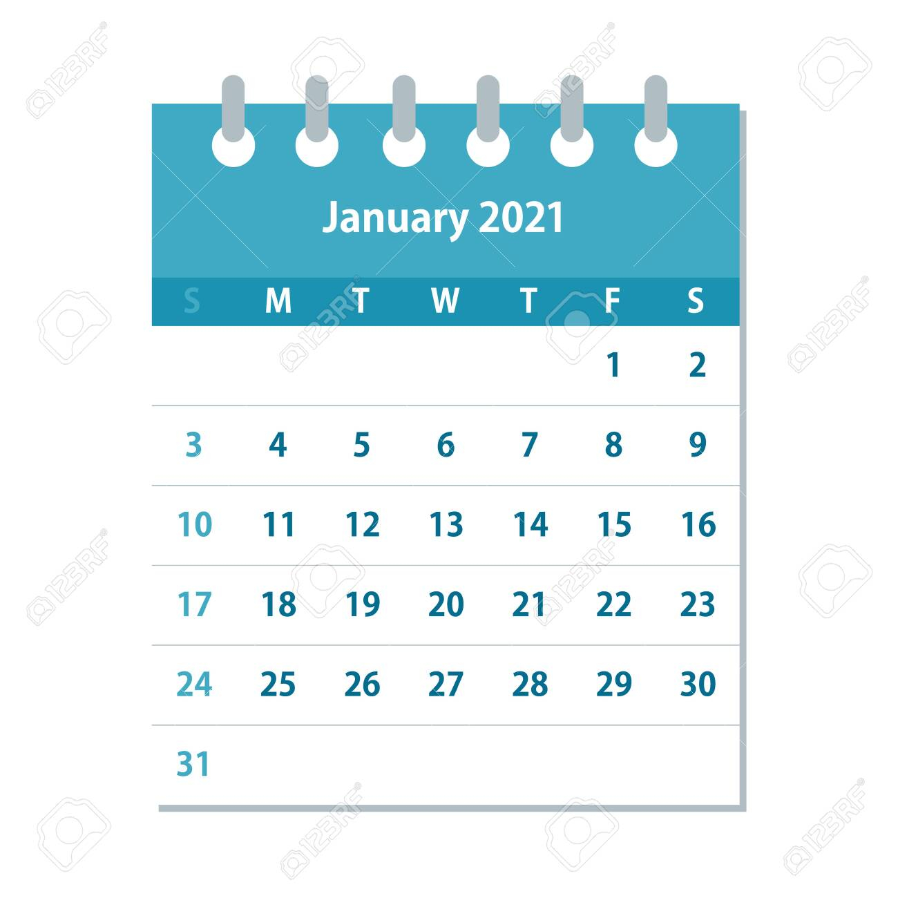 photo stock vector january 2021 calendar leaf monthly calendar design template week starts on sunday business vector il