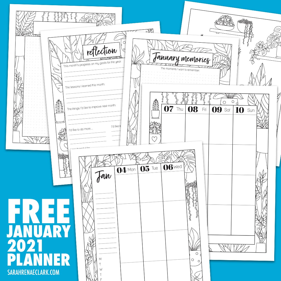 free january 2021 planner