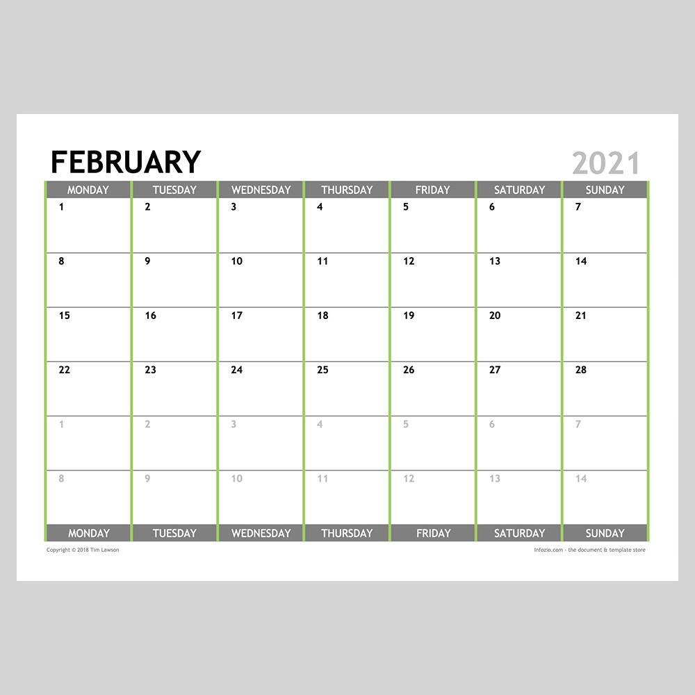 2021 monthly calendar planner a4 or a3 12 pages