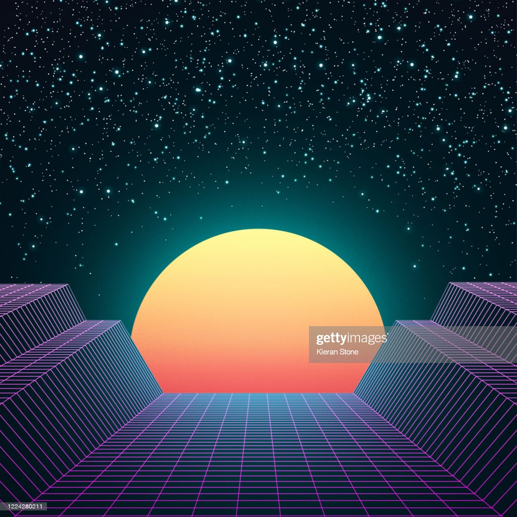retro 80s space background picture id
