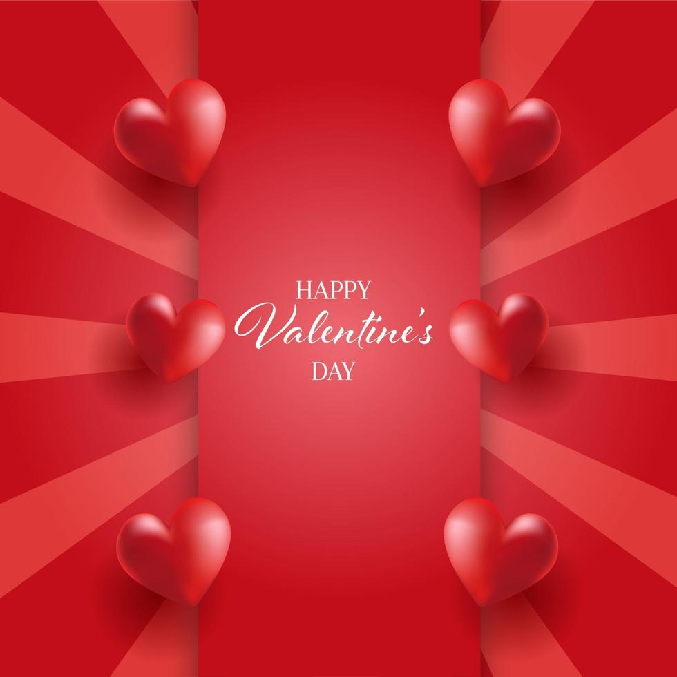 valentines day background with hearts design free vector