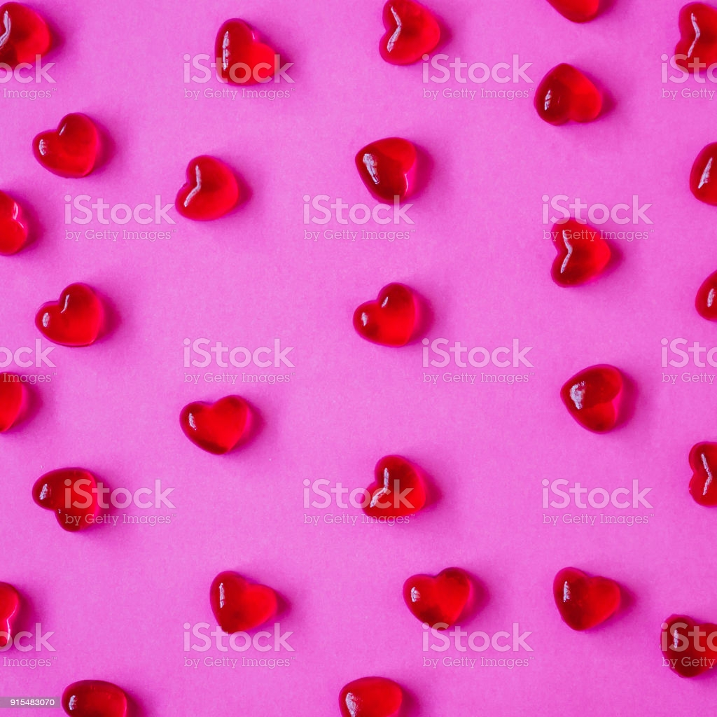 valentines day background with heart shape candy gm