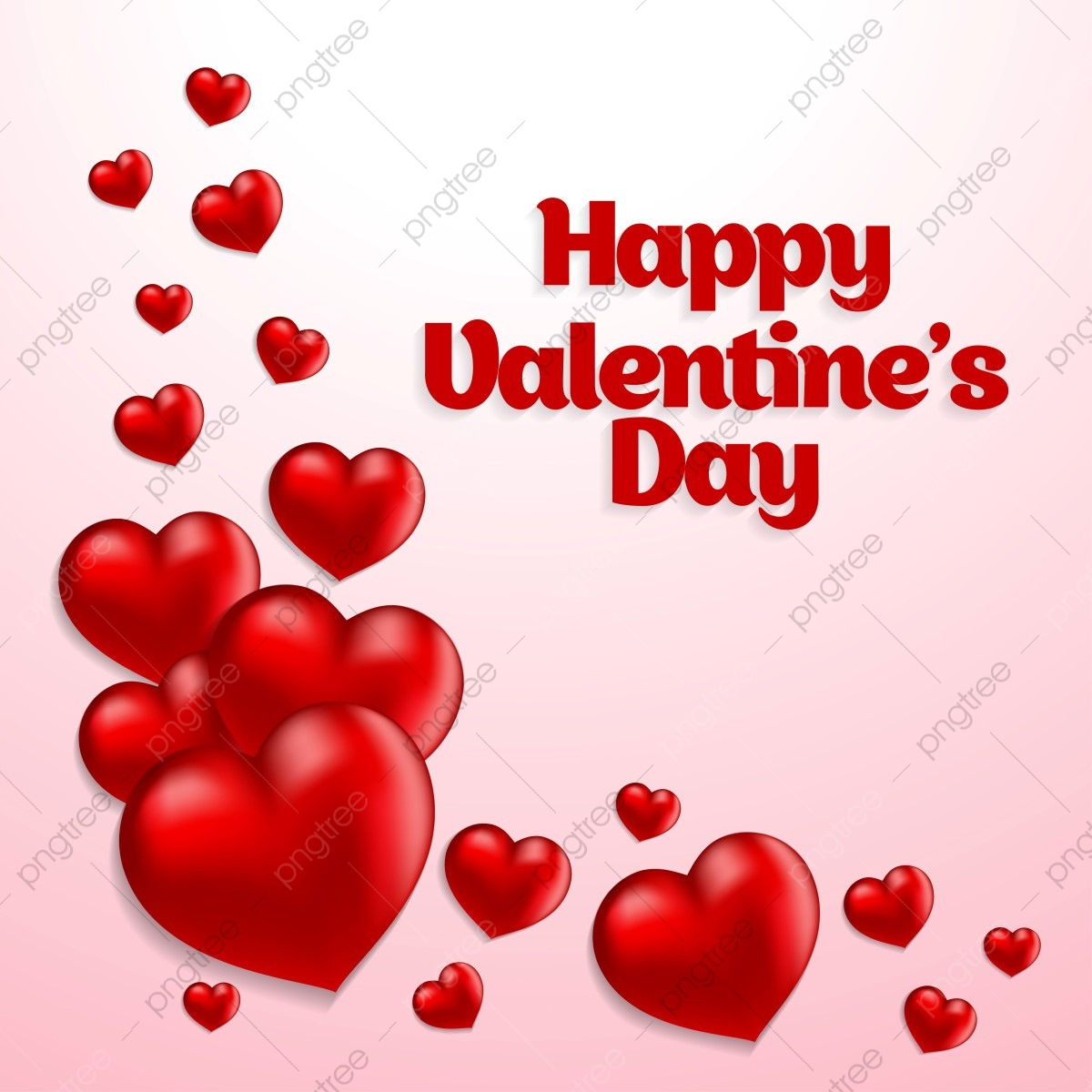 pngtree happy valentines card with hearts and light background png image