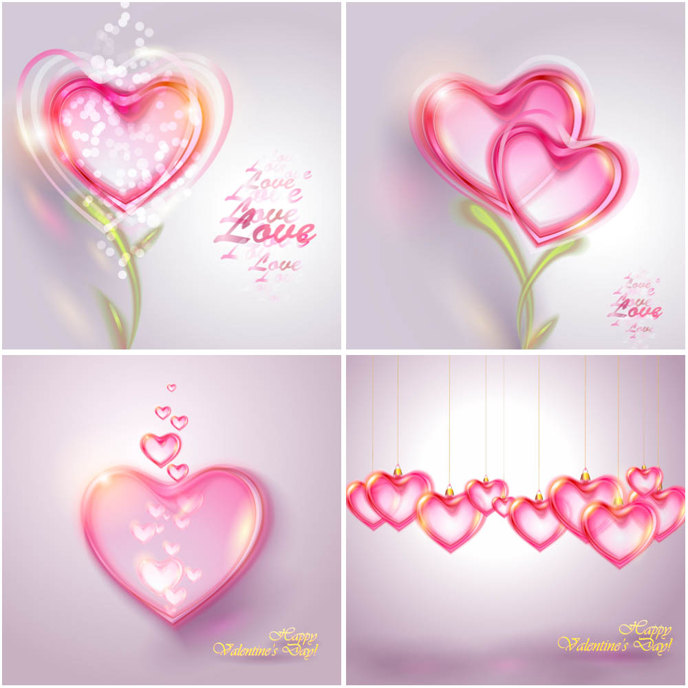 Cute background with hearts for Valentines day vector
