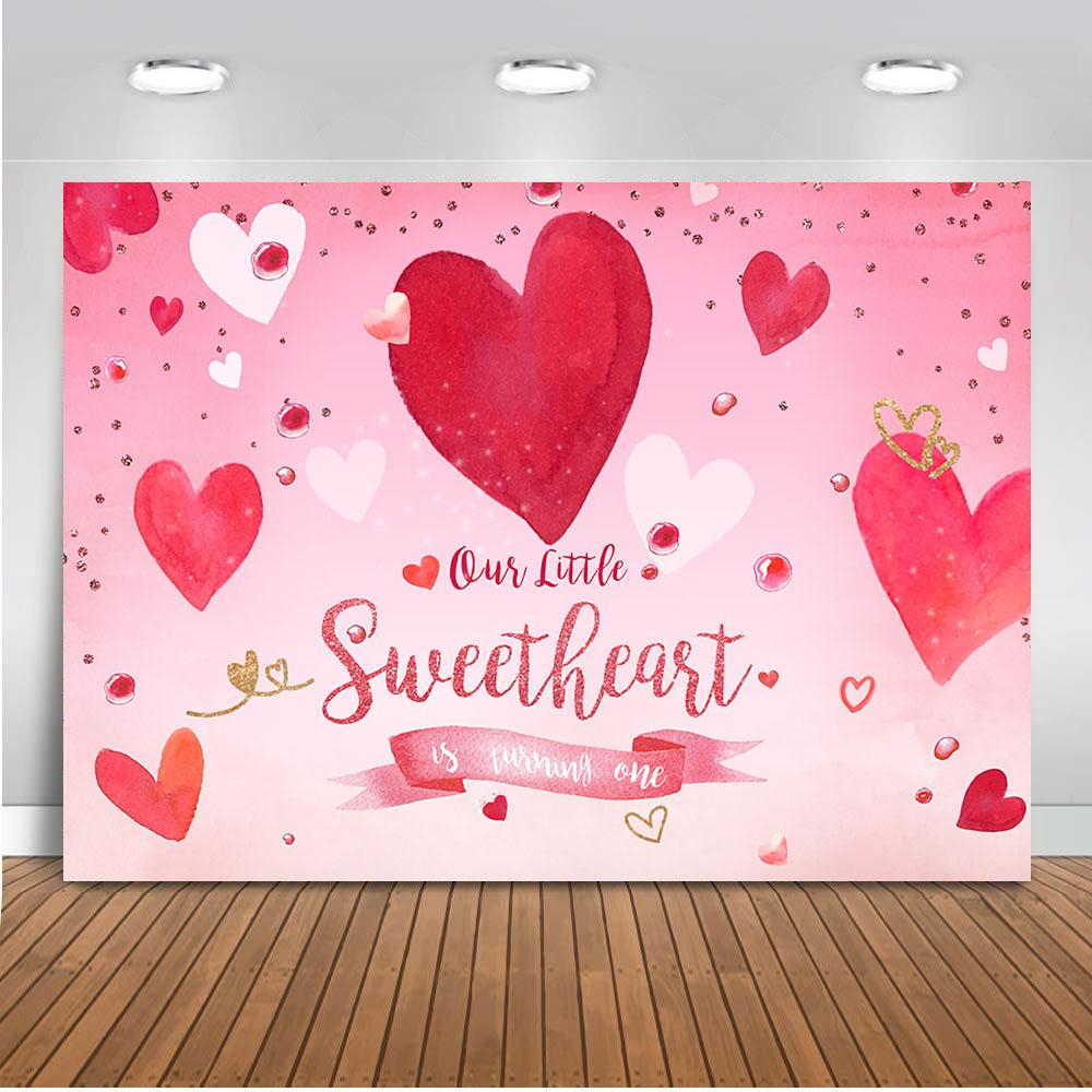 Valentine backdrop for photography Valentine s Day background for photo studio Red Heart Backdrops Pink Heart 1 1024x