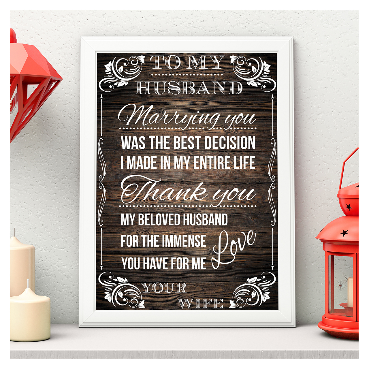 Rustic Valentines Message Board Sign Love Quotes Wood Sign Husband Gifts