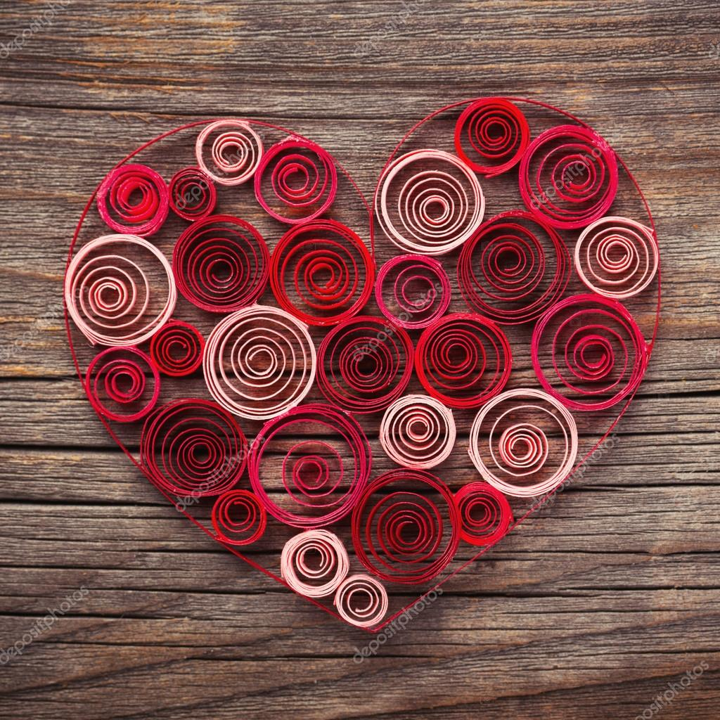 depositphotos stock photo heart of paper quilling for