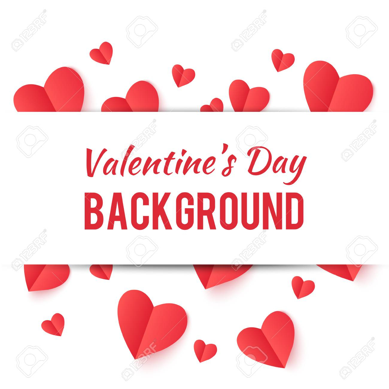 photo stock vector poster with hearts happy valentines day on white background wallpaper for valentines day vector illu