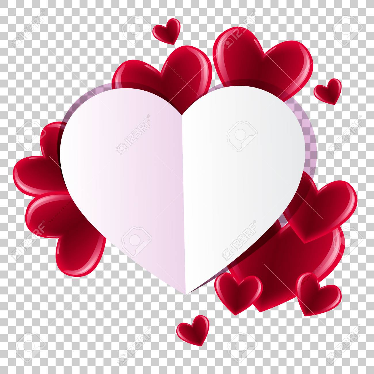 photo stock vector valentine s day background with hearts abstract background design template for prints textile and de