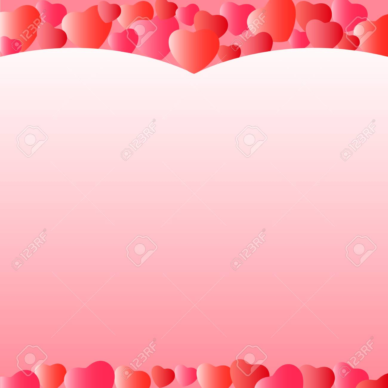photo stock vector template for greeting cards for valentines day background with hearts wallpaper