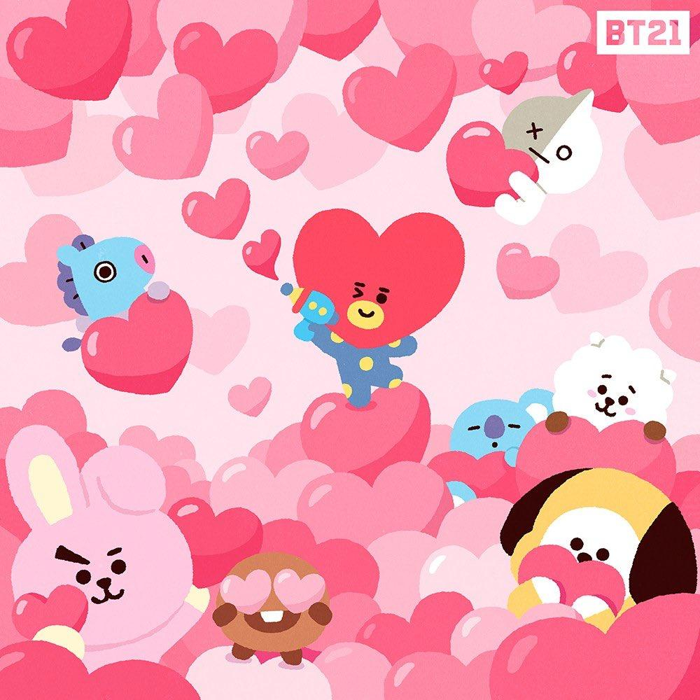 bt21 valentines day wallpapers