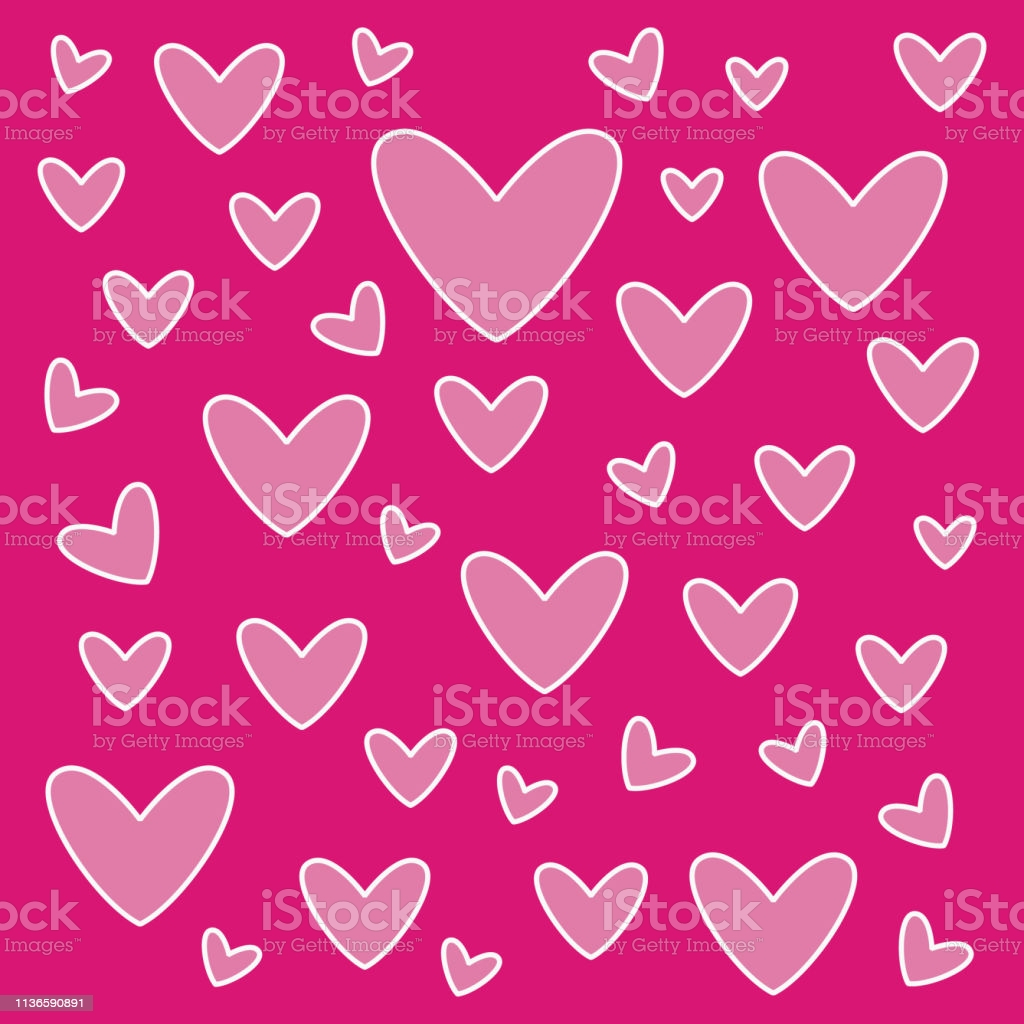 lovely heart wallpaper heart shapes in different sizes for valentines day background gm