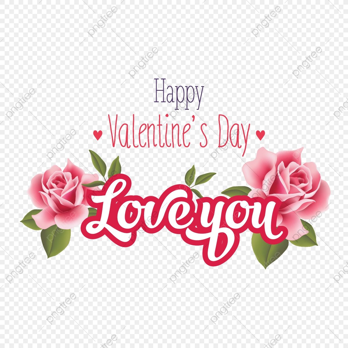 pngtree happy valentine day pink rose wishes png image