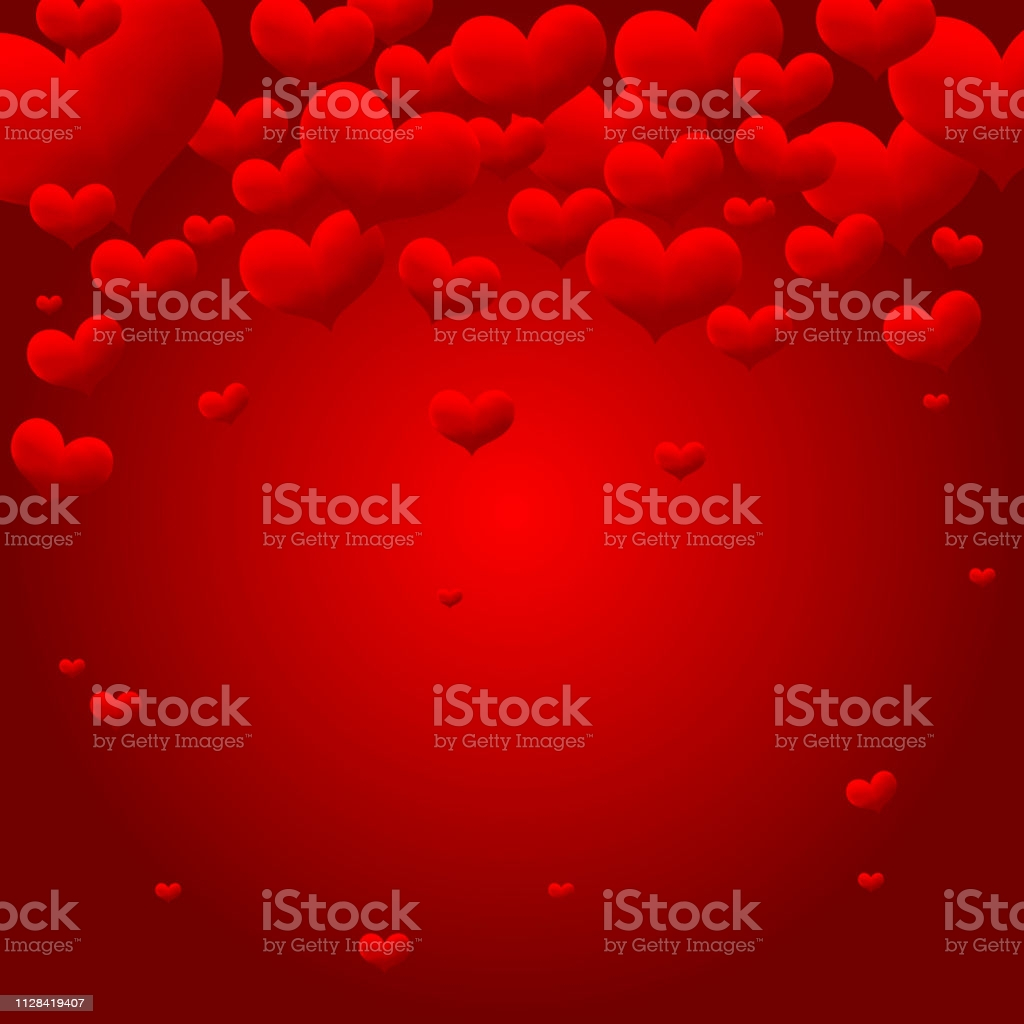 love heart background template for greeting card valentine day gm