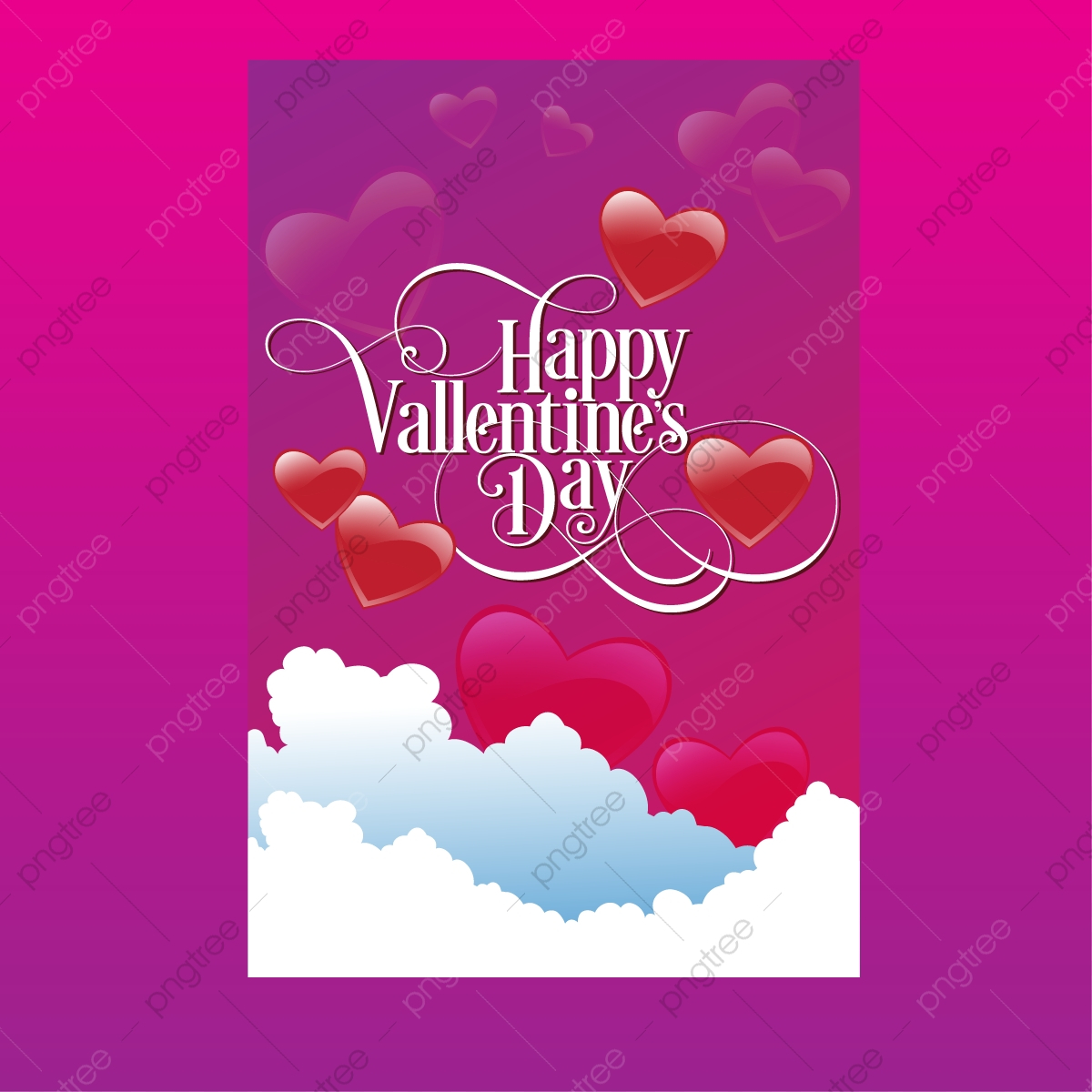 pngtree valentine s day classic style card background template vector png image