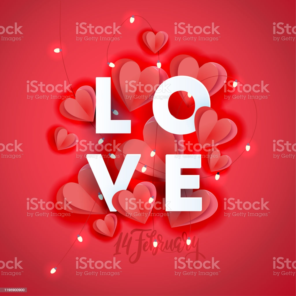 valentines day greeting card template poster card label background banner with big gm