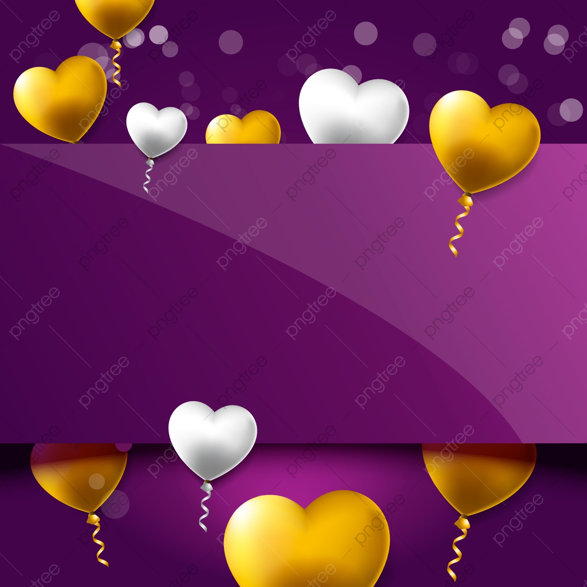 pngtree valentines day template background design with luxury gold and silver balloon png image