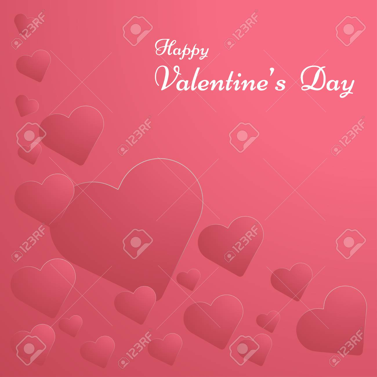 photo stock vector vector illustration of happy valentines day with paper hearts in red background template for valenti