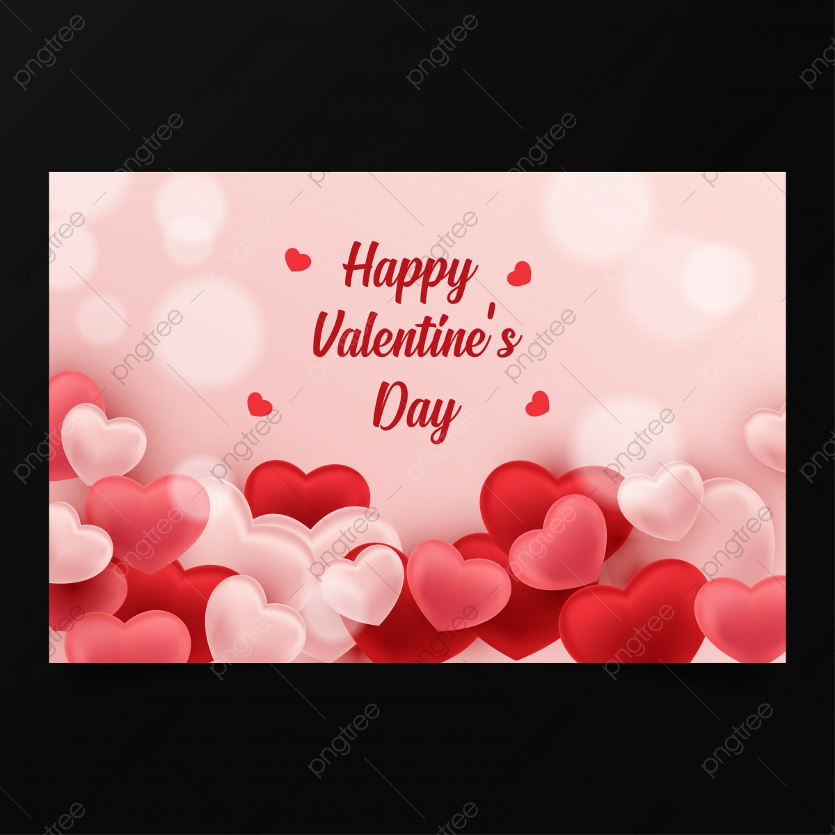 pngtree happy valentine s day background design vector template png image