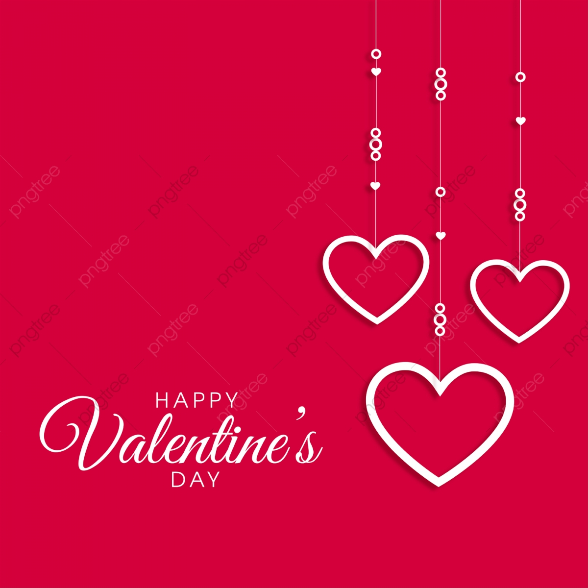 pngtree valentine day card on red background png image