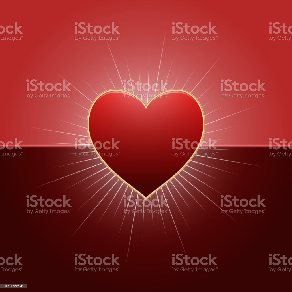 valentines day background with red heart and rays of lights happy valentines day gm