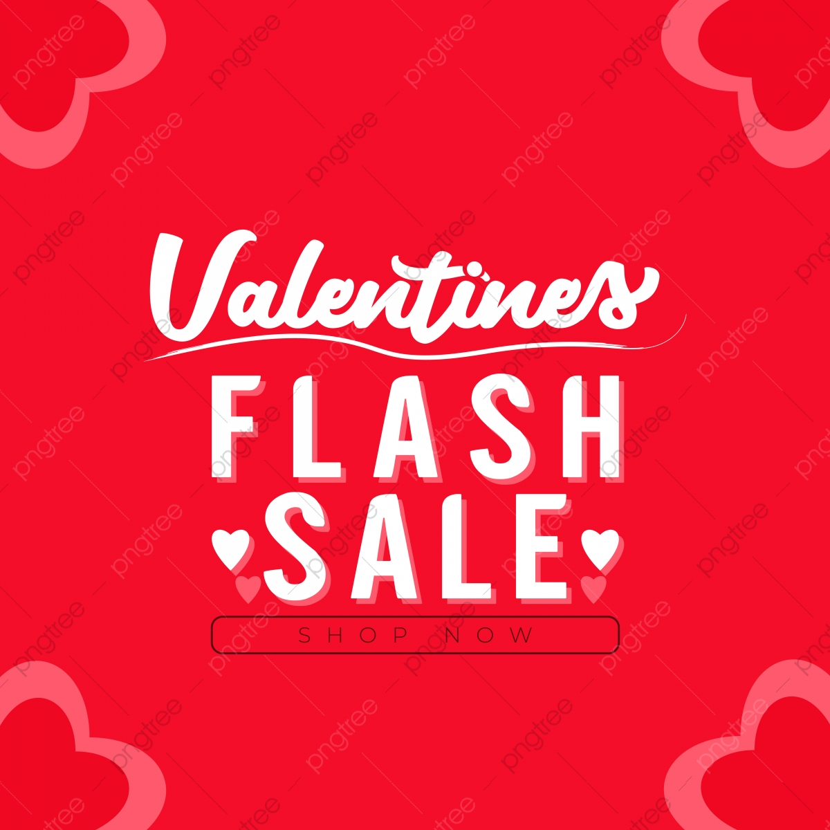 pngtree valentines day typography flash sale banner design hearts background png image