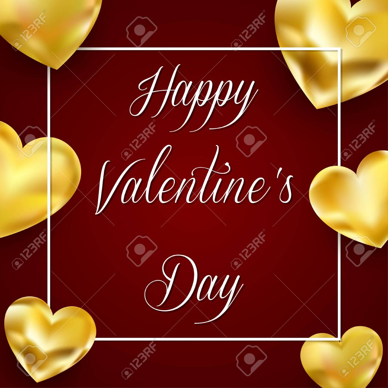 photo stock vector valentines day background with golden hearts and lettering template for valentine s day design vecto