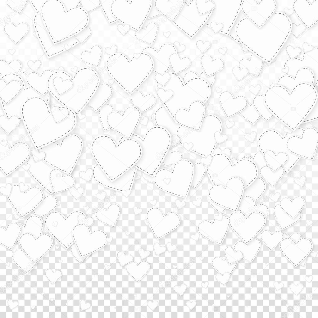 depositphotos stock illustration white heart love confettis valentines