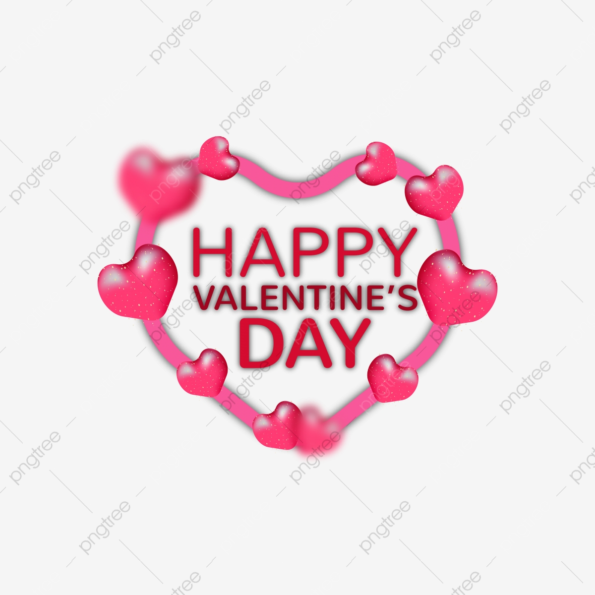 pngtree happy valentines day transparent background with love shape png image