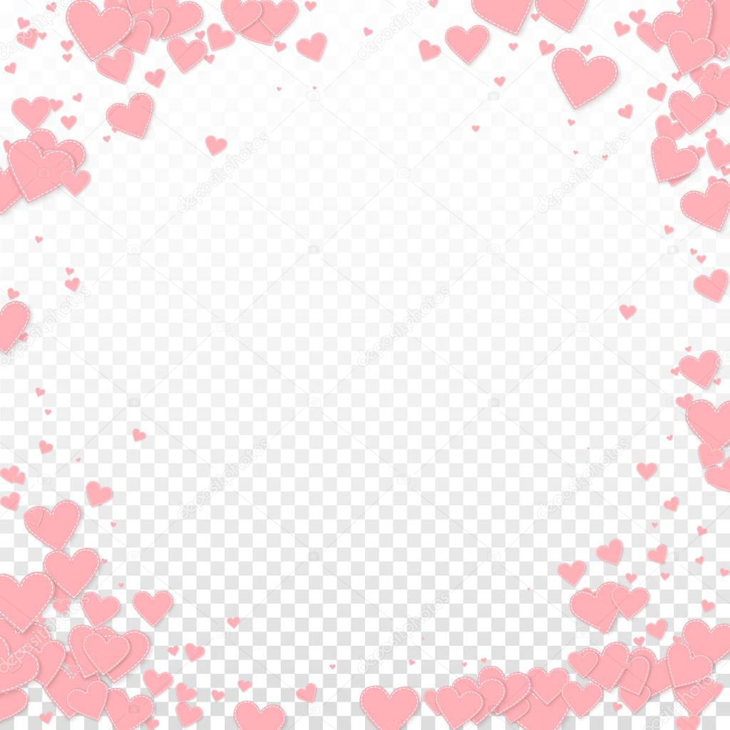 depositphotos stock illustration pink heart love confettis valentine