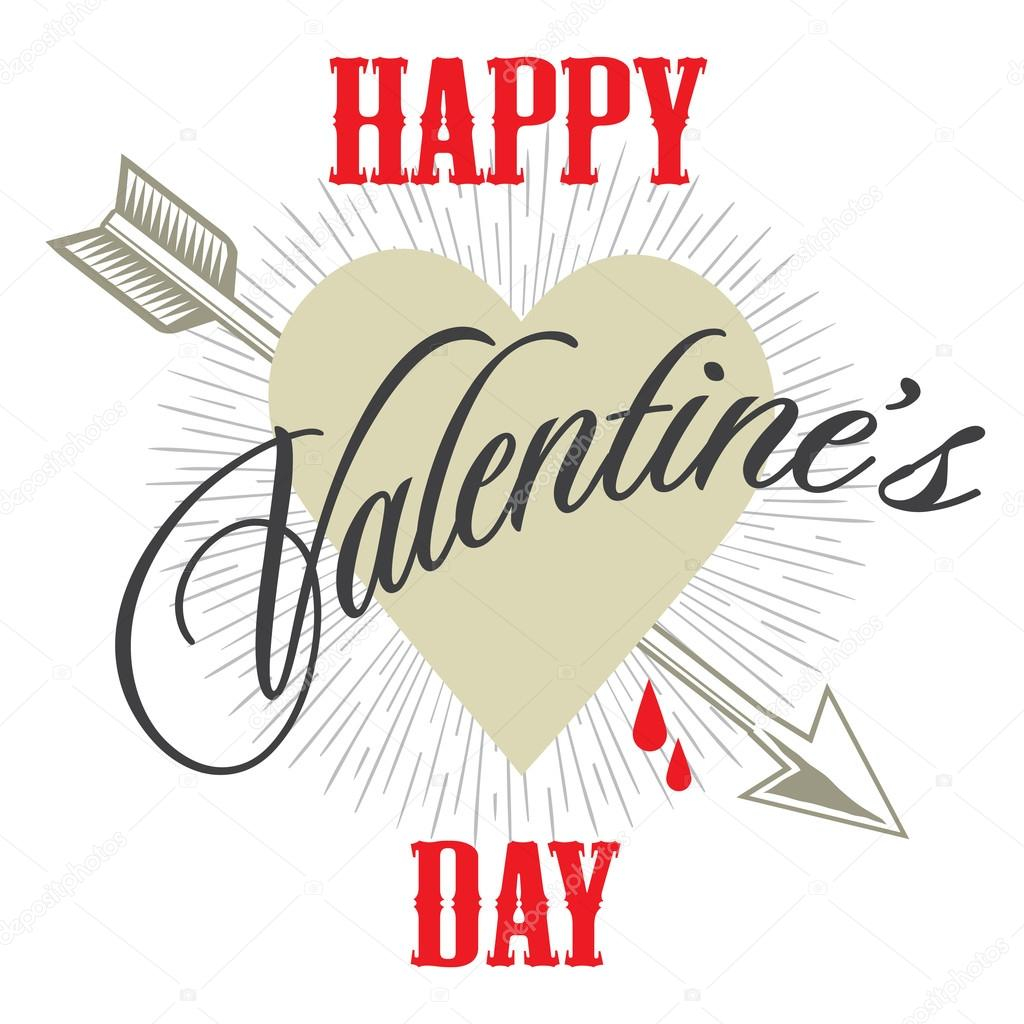 depositphotos stock illustration happy valentines day card