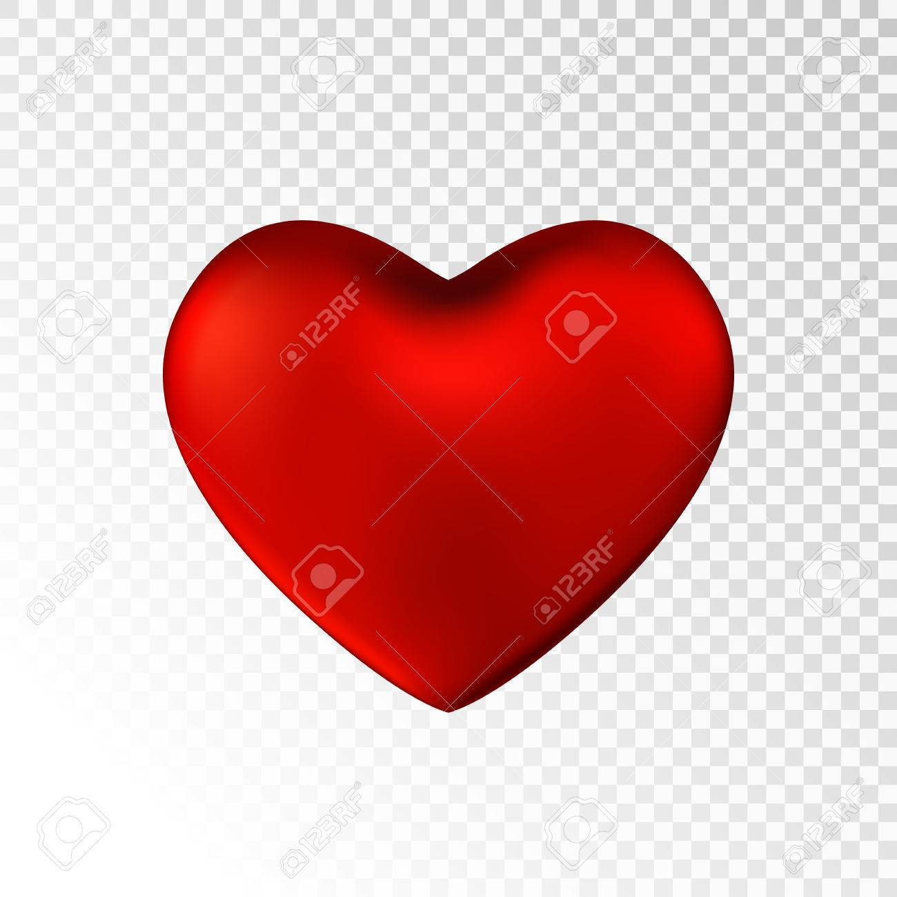 photo stock vector red heart isolated on transparent background happy valentine s day greeting template