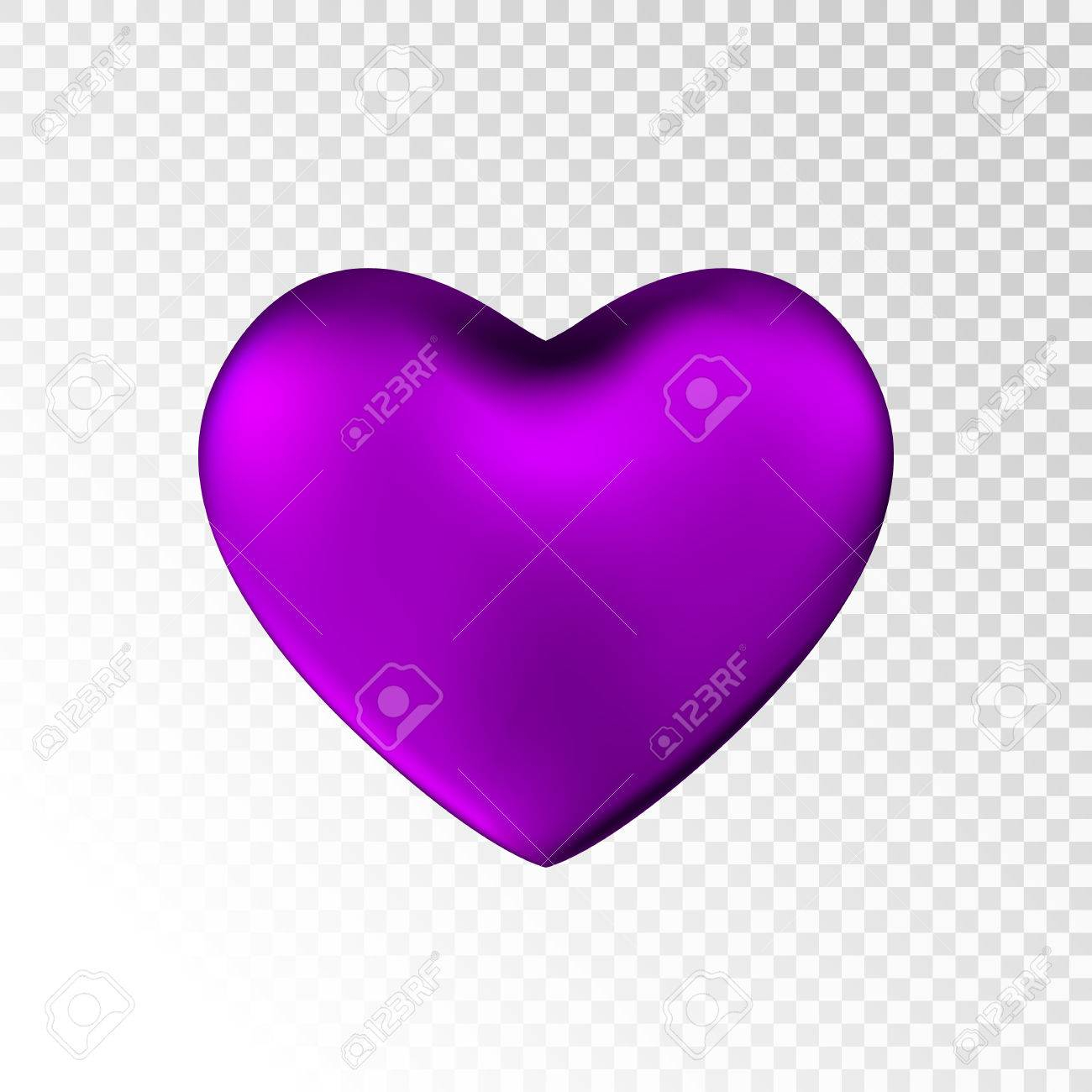 photo stock vector violet heart isolated on transparent background happy valentine s day greeting template