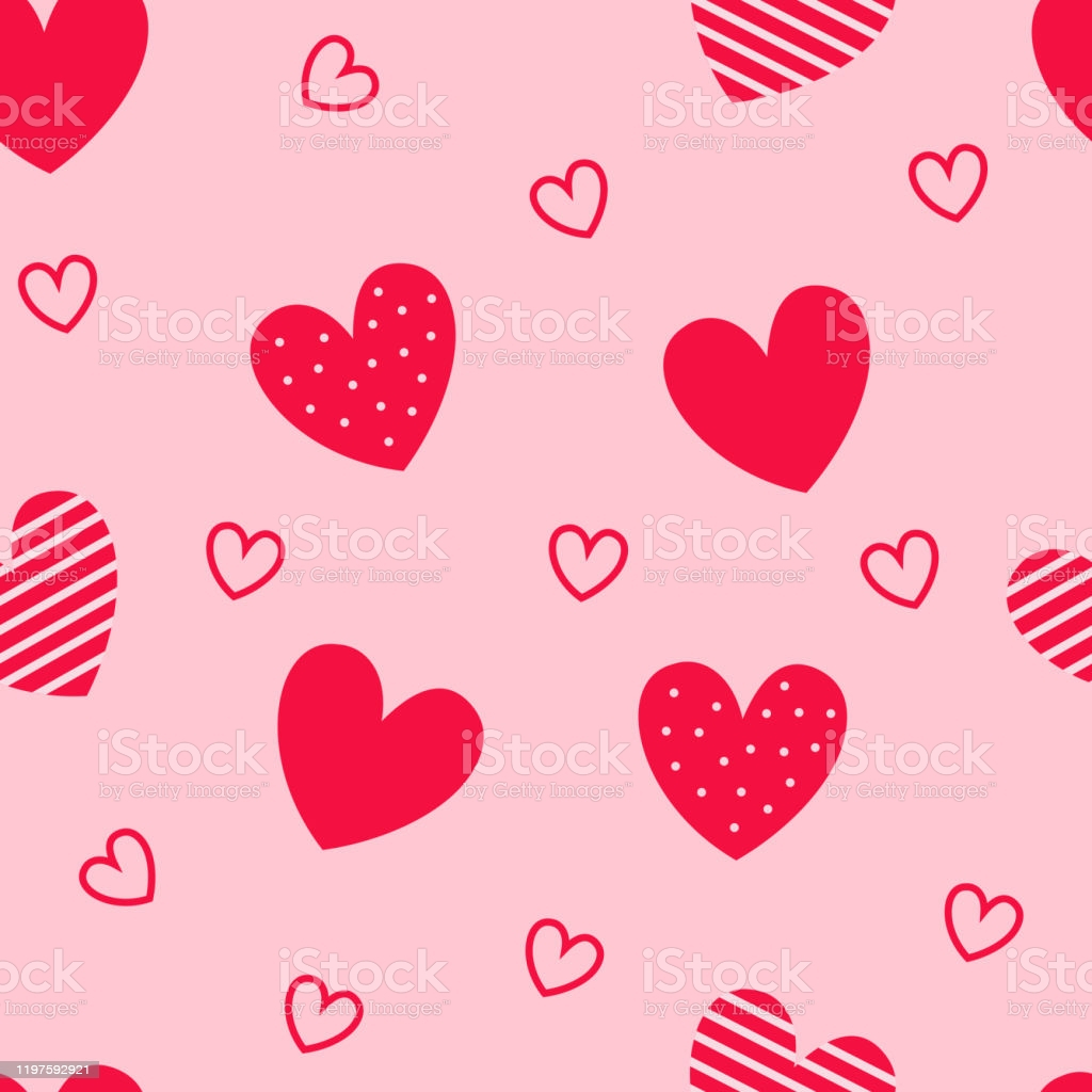 seamless pattern of red hearts pink background wallpapers for valentines day gm