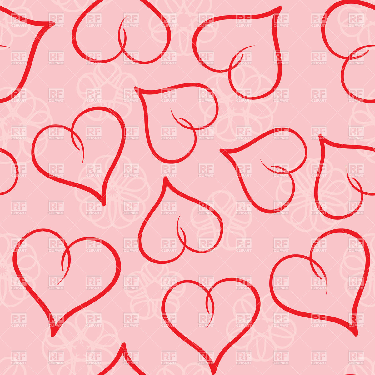 Valentines day seamless background Stock Vector Image
