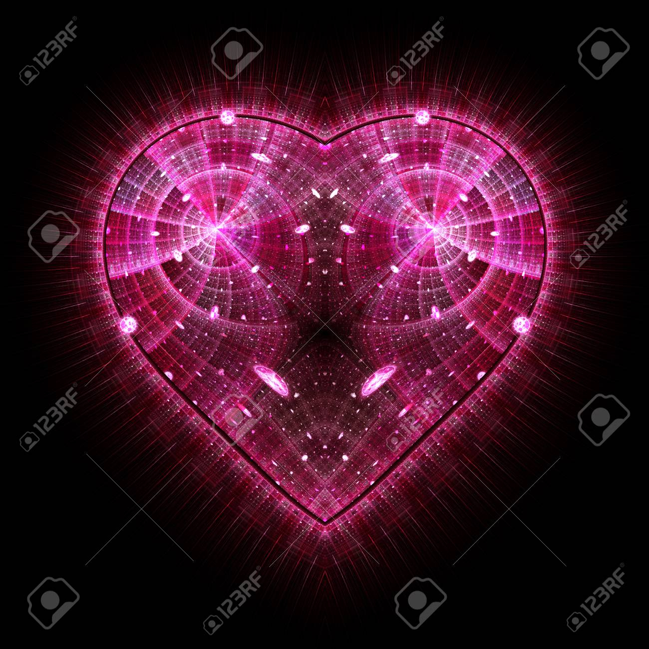 photo burning and beating heart valentine s day background an abstract puter generated modern fractal d