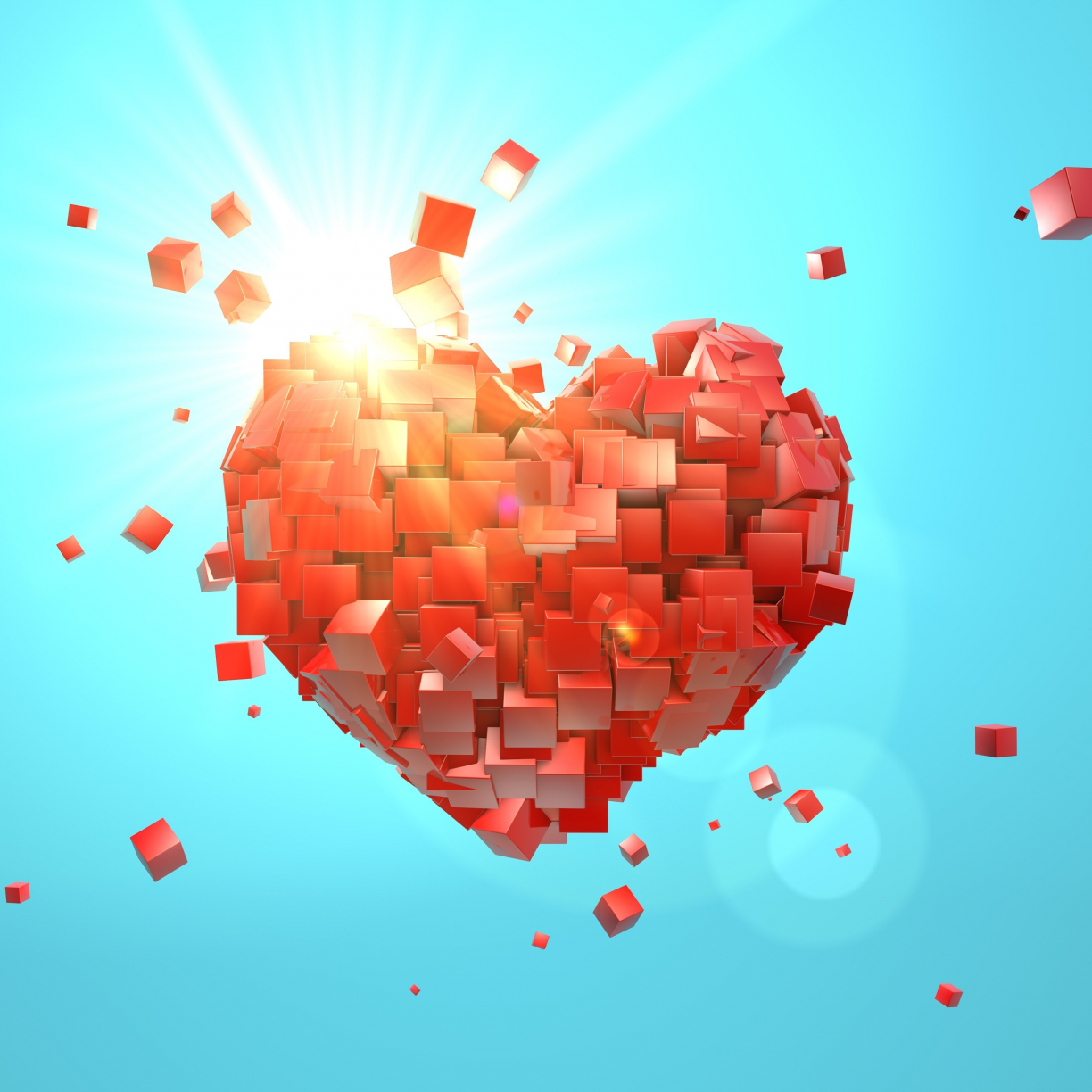 heart explosion love red abstract valentine day 4a8af1