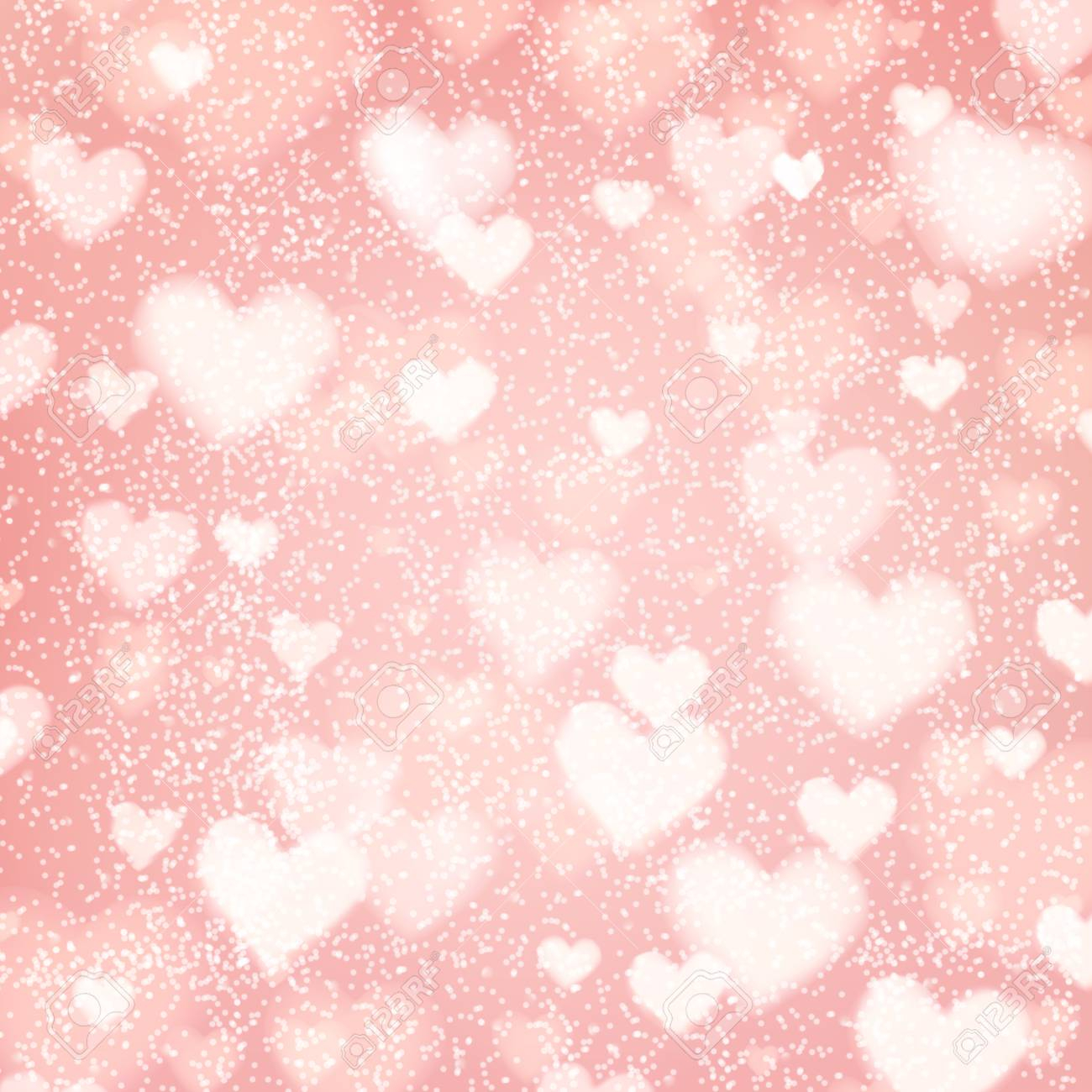 photo stock vector abstract romantic pink background with hearts and bokeh lights st valentines day wallpaper blurred g